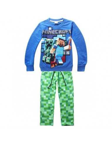 Костюм на мальчика Minecraft синий с зеленым