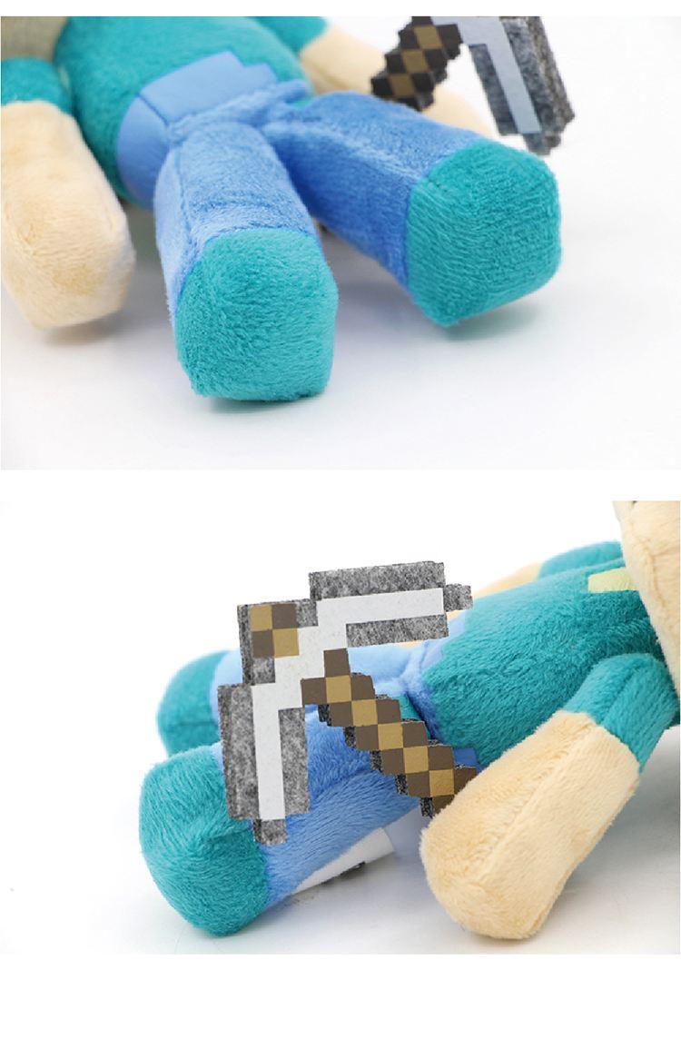 Мягкая игрушка Стив с киркой Майнкрафт